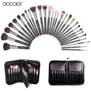 Docolor Make Up Brushes 29 шт Профессиональный набор кистей для макияжа с корпусом Top Nature Bristle и синтетические кисти для макияжа волос
