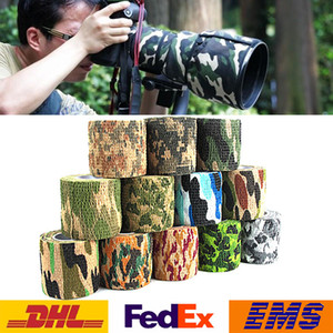 4.5 m * 5 cm Army Camo caza al aire libre Shooting Scope Mounts Tool camuflaje Stealth Tape impermeable abrigo 12 colores elegir WX-C01
