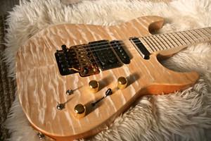 Benutzerdefinierte Jack Son PC1 Phil Collen Qulit Ahorn Chlor natürliche elektrische Gitarre Floyd Rose Tremolo, aktive Pickups 9v Batterie Box