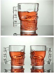 Drinkware 500ml Capacidad Crystal Skull Head Shot Bone Vodka Whisky Vaso de cerveza Vaso de bebida Copa Home Bar Party Barware 500 / 600ml