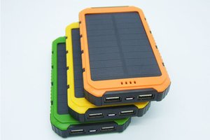 New 20000mah Solar Charger Solar Power Bank Shockproof mobile solar phone charger battery pack Flashlight for CellPhone
