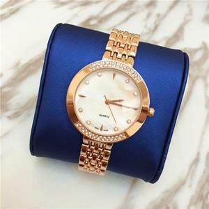 Qualitäts-Frauen-Uhr-Dame Wristwatches Quartz Dress passt Glanz-Diamant-Japan-Bewegungs-Rotgold-Großhandelspreis auf Freies Verschiffen elegant