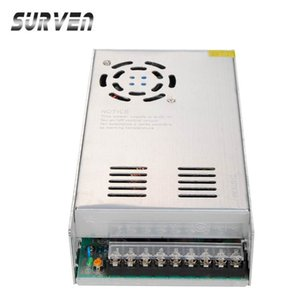 Wholesale-SURVEN 24V 20A 480W Voltage Transformer Switch Power Supply Switching Driver Adapter For Led Strip Light 110V/220V