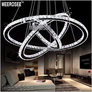 Venta al por mayor LED Crystal Ring Chandelier Colgante Light Modern LED Circle Chandeliers Lámpara / Luces / Lámpara de iluminación Ready Stock