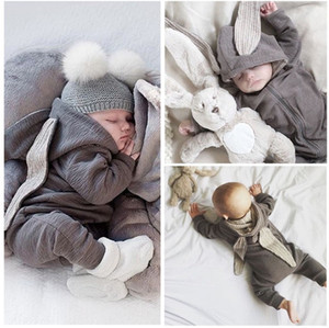 Wonderful Newborn Infant Baby Girl Boy Rabbit 3D Ear Warm Romper Jumpsuit Outfits Clothes baby cute one-piece clothes