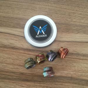 Aleader AS101 22mm RDA Caps punta de goteo de resina colorida con caja de metal para Epacket al por menor envío gratis