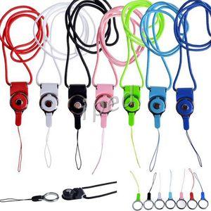 Mais barato Charme Correia de pescoço Lanyard destacável giratória de Cordas Charming para Celular MP3 MP4 ID colorido frete grátis por DHL 300pcs