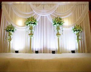 3 * 6 m Festa de Casamento Celebração Celebração Fundo Cetim Cortina Cortina Pilar Teto Pano de Fundo casamento decoração Véu WT016
