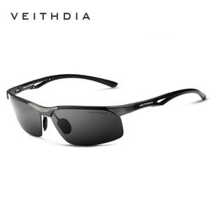 VEITHDIA 2020 di marca occhiali da sole polarizzati per gli uomini occhiali Accessori Eyewear di alluminio in lega di magnesio Telaio 6591 Guidare