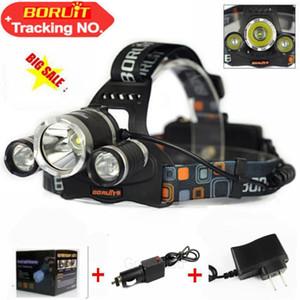 5000LM LED Proiettore CREE XML T6 3LED 4 Modalità Ricaricabili Faro Testa Lampada Spotlight Per Caccia Pesca Luce + Caricatore da Auto Ac