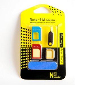 Metal tasarım Cep Telefonu 5in1 SIM Adaptörü toptan cep telefonu aksesuarı IPhone samsung Nano kartları için Mikro kartlar standart kartlar