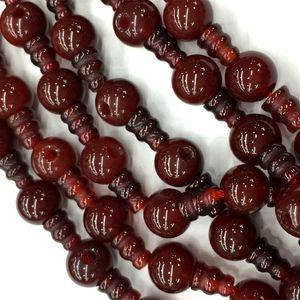 Natural Ágata Vermelha T Pagode Buddha Cabeça Tibet Guru Beads Fit Jóias DIY Colares (10 Miçangas / lote) 04199