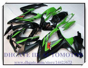 Injection 100% brand new fairing kit fit for Suzuki GSXR600 k8 2008 2009 GSXR750 2008 2009 GSX-R600 GSX-R750 08-09 #YW180 BLACK GREEN