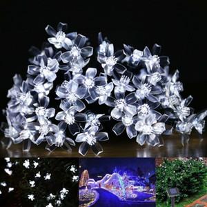 태양 램프 7 메터 50LEDs 꽃 꽃 장식 조명 방수 화이트 요정 정원 야외 크리스마스 태양 빛