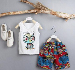 Free shipping Virgin suit the new children's summer suit Han edition of fashion design and color is sleeveless boy suit pants in 2 times