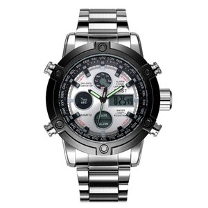 Watch Writwatches Top Brand 3022 Водонепроницаемые двойные часы Мужчины Роскошный Relogio Спортивный Военный Masculino Amst Дисплей 50 м Qhewl