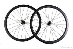 탄소 섬유 도로 자전거 바퀴 디스크 브레이크 38mm clincher 관형 자전거 wheelset 700c 너비 25mm XC cyclocross 쓰루 액슬 또는 QR 가능