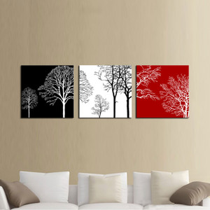 다채로운 나무 현대 3 개 패널의 giclee 캔버스 작품에 flowe 사진 사진 홈 오피스 장식 나무 액자 캔버스 벽 예술에 회화