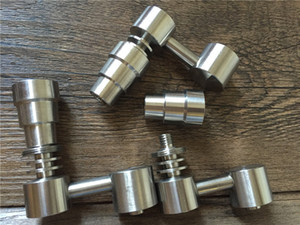 남성 / 여성 4 in 1 Gr2 Domeless Titanium Banger Nails 기능성 집중 유리 액세서리 용 액세서리