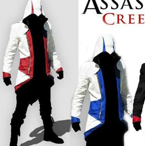 Atacado-Assassins Creed3 Conway Kenway Moletom Com Capuz Cosplay Casaco Jaqueta Assassins Creed Jaqueta Anime Cosplay Traje do Assassino F0102