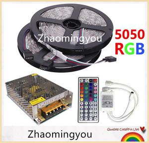 10M RGB LED 스트립 5050 60LEDs / M SMD 유연한 라이트 세트 + 44 키 IR 리모트 컨트롤러 + DC 12V 10A 전원 공급 변압기