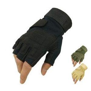 Fitness riding shooting gloves male half finger tactical sports gloves cycling 3 colors M L XL