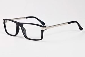 Herren-Sonnenbrillen für Frauen Büffelhornbrille rechteckigen klar Spiegelobjektiv mit schwarzem Eisen-Box Gläser preiswerte Sonnenbrille Lünetten gafas