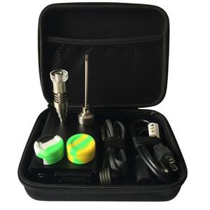 DHL livre E Digital Prego kit contêm 6 em 1 Ti / Qtz Híbrido prego ajuste plana 10mm / 16mm / 20mm bobina de aquecedor para bong