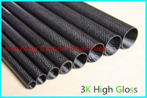10MM OD x 6mm 8mm 9mm ID Carbon Fiber Tube 3k 500MM Long with 100% full carbon, (Roll Wrapped) Quadcopter Hexacopter Model 10*6 10*8 10*9