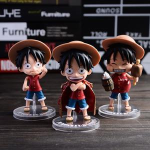 3 adettakım Q Stil One piece Luffy 11 cm pvc Aksiyon Figürleri Oyuncak bebekler Klasik Oyuncaklar Ücretsiz Kargo stokta