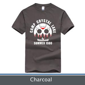 T-shirt Camp Crystal Lake, Jason Friday 13th Tee, More Colour Short Sleeve per Scegli, Taglia: XS-XXL