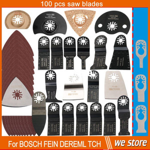 100 pcs kit oscillating multi tool saw blades accessories for renovator power tool as Fein multimaster,Dremel,metal wood cutting