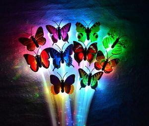 LED flash danza de la trenza de fibra de mariposa danza iluminada resplandor luminoso extensión del pelo delirio de halloween decoración de navidad festivo suministros de regalo