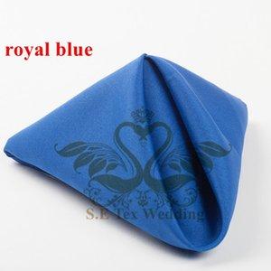 Guardanapo de mesa poli para decoração de casamento 48cm * 48cm boa qualidade - azul Royal
