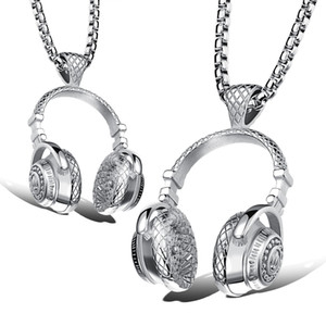 Хип-хоп DJ беспроводные наушники дизайн мужские из нержавеющей стали кулон ожерелье