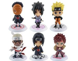 Naruto 6 pz Q Edizione Naruto Anime Action Figure Collection PVC Naruto Figure Modello giocattolo Set Action Figure Giocattoli spedizione gratuita