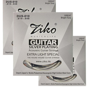 3sets lot 010-048 DUS-010 ZIKO Acoustic guitar strings guitar parts wholesale musical instruments Accessories