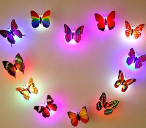 Yaratıcı Küçük Fantezi Fener Renkli LED Kelebek Gece Işıkları Düğün Odası Dekorları Işıkları Bebek Gece Işık LED Noel Tatili Gif