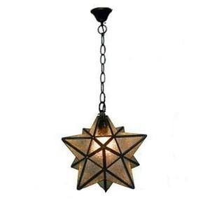 accesorios de descuento Industrial cristal de la vendimia Monrovian Moravia estrella de techo Luz pendiente del Kitchen Bar