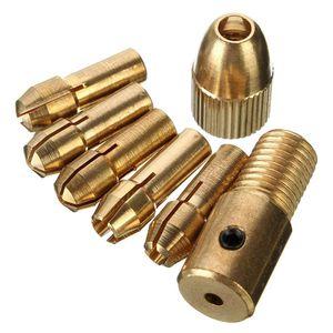8 pcs 0.5-3mm Micro Torção Broca Chuck Set Pequeno Broca Elétrica Collet com chave Allen