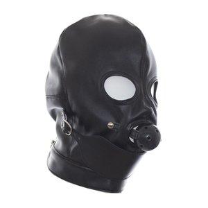 Глаза КАНИТЕЛЬ Полный Шаровой Hood Открытая маска W / Mouth Gag # R172 Fetish Bondage подголовников моды Idifn