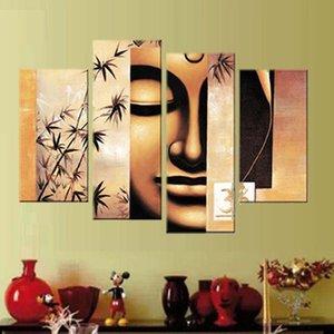 4 그림 / 설정 장식 유화 캔버스 인쇄 그림 서 예 cuadros quadros decorativos HD 인쇄 Buddha Painting