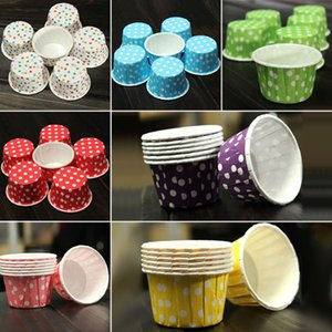 100 unids Cake Cupcake Liner Case Wrapper Muffin Postre Grease Baking Baking Cup