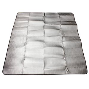 Wholesale-NEW Waterproof double layer Aluminum Backing Insulating Foam Camping Mat Blanket Cushion Pad for Camping Hiking 200*200cm