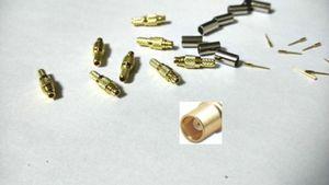 RG316 RG174 RF kablo sıkma için 100 adet pirinç MMCX Dişi fiş konnektör