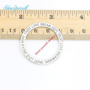 10 teile / los Antikes Silber Überzogene Hoffnung Trust Love Dream Charms Anhänger für Halskette Schmuck Handgemachte Fertigkeit DIY 36mm