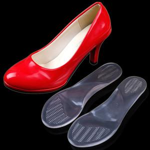 5 pares de plantillas para dama, soporte de arco ondulado de silicona, plantilla ortopédica, masaje antideslizante con pie plano, zapatos de tacón alto, plantillas de almohadillas para zapatos