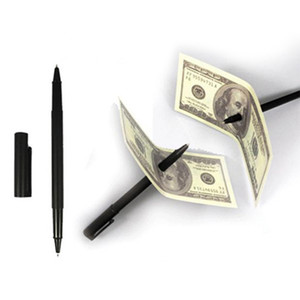 Hot Selling Factory Price Magic Pen Penetration Through Paper Dollar Bill Money Magic Tricks Close Up Prop Christmas giftwith PP bag packing