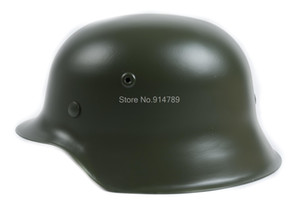 도매 - 독일 엘리트 WH 육군 M42 M1942 철강 헬멧 녹색 -35360