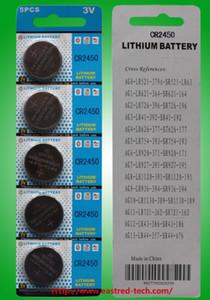 Un lote = 440packs 12v A23 Battery + 60packs 12V A27 Battery + 100packs CR2450 pilas de botón a EE. UU. Canadá